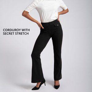 BETABRAND Pant Yoga Pants Boot-Cut Corduroy black